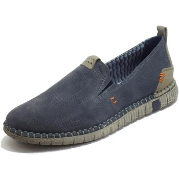 Scarpe Uomo Mocassini Zen Mocassini Uomo camoscio Flex Light Eco Friendly Memory Confort Blu
