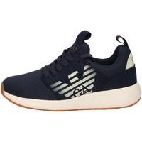 Scarpe Bambino Sneakers basse Emporio Armani EA7 XSX009 X0T18 00285 blu