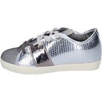 Scarpe Bambina Sneakers Enrico Coveri sneakers tessuto pelle sintetica argento