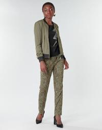 Abbigliamento Donna Pantaloni morbidi / Pantaloni alla zuava Ikks BR22005 Kaki