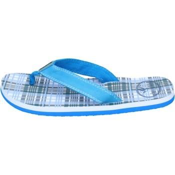 Scarpe Bambino Sandali Brooksfield sandali tela celeste