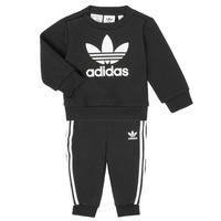 Abbigliamento Unisex bambino Completo adidas Originals CREW SET Nero