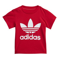 Abbigliamento Unisex bambino T-shirt maniche corte adidas Originals TREFOIL TEE Rosso
