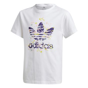Abbigliamento Bambina T-shirt maniche corte adidas Originals TREF TEE Bianco