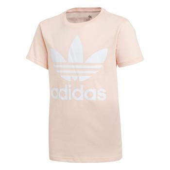 Abbigliamento Bambina T-shirt maniche corte adidas Originals TREFOIL TEE Rosa