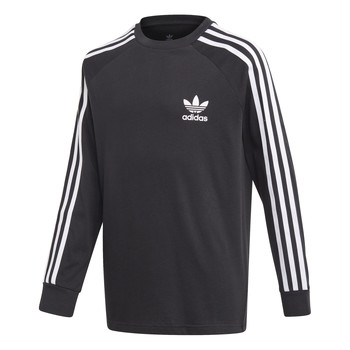 Abbigliamento Bambino T-shirts a maniche lunghe adidas Originals 3STRIPES LS Nero