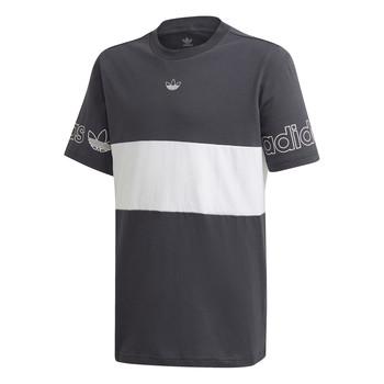 Abbigliamento Bambino T-shirt maniche corte adidas Originals PANEL TEE Grigio / Bianco