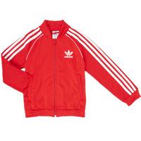 Abbigliamento Bambino Giacche sportive adidas Originals SST TRACKTOP Rosso