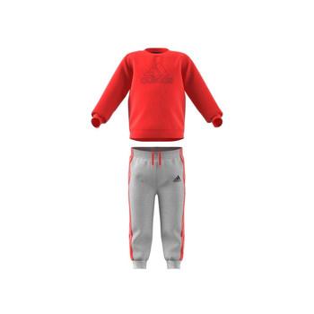 Abbigliamento Unisex bambino Completo adidas Performance MH LOG JOG FL Rosso / Grigio