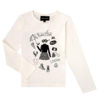 Abbigliamento Bambina T-shirts a maniche lunghe Emporio Armani 6H3T01-3J2IZ-0101 Bianco