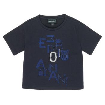Abbigliamento Bambina T-shirt maniche corte Emporio Armani 6H3T7R-2J4CZ-0926 Marine