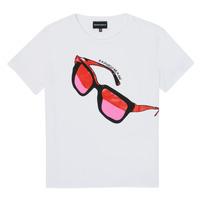 Abbigliamento Bambina T-shirt maniche corte Emporio Armani 6H3T7T-3J2IZ-0100 Bianco