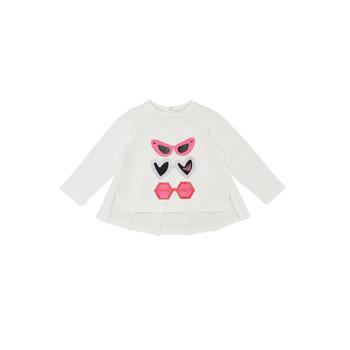 Abbigliamento Bambina T-shirts a maniche lunghe Emporio Armani 6HEM01-3J2IZ-0101 Bianco