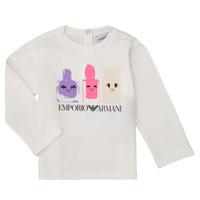 Abbigliamento Bambina T-shirts a maniche lunghe Emporio Armani 6HET02-3J2IZ-0101 Bianco