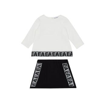 Abbigliamento Bambina Completo Emporio Armani 6HEV08-3J3PZ-0101 Bianco / Nero