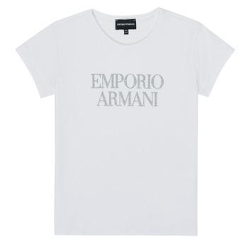 Abbigliamento Bambina T-shirt maniche corte Emporio Armani 8N3T03-3J08Z-0100 Bianco