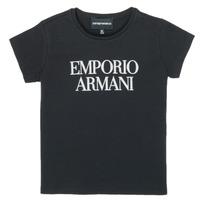 Abbigliamento Bambina T-shirt maniche corte Emporio Armani 8N3T03-3J08Z-0999 Nero
