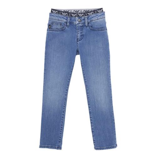 Abbigliamento Bambino Jeans slim Emporio Armani 6H4J17-4D29Z-0942 Blu