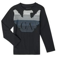 Abbigliamento Bambino T-shirts a maniche lunghe Emporio Armani 6H4T17-1J00Z-0999 Nero