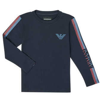 Abbigliamento Bambino T-shirts a maniche lunghe Emporio Armani 6H4TJD-1J00Z-0920 Marine