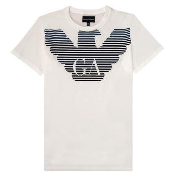 Abbigliamento Bambino T-shirt maniche corte Emporio Armani 6H4TQ7-1J00Z-0101 Bianco