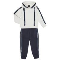 Abbigliamento Bambino Tuta Emporio Armani 6H4V02-1JDSZ-0101 Marine / Bianco