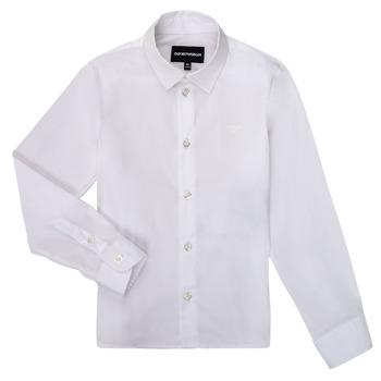 Abbigliamento Bambino Camicie maniche lunghe Emporio Armani 8N4CJ0-1N06Z-0100 Bianco