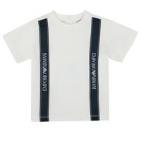 Abbigliamento Bambino T-shirt maniche corte Emporio Armani 6HHTG4-1JTUZ-0101 Bianco