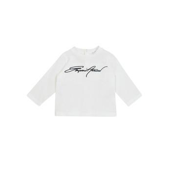 Abbigliamento Bambino T-shirts a maniche lunghe Emporio Armani 6HHTJN-1JTUZ-0101 Bianco