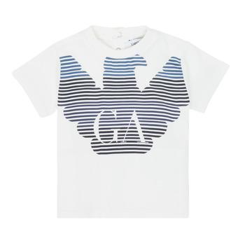 Abbigliamento Bambino T-shirt maniche corte Emporio Armani 6HHTQ7-1J00Z-0101 Bianco