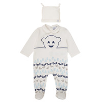 Abbigliamento Bambino Pigiami / camicie da notte Emporio Armani 6HHV08-4J3IZ-0101 Bianco / Blu
