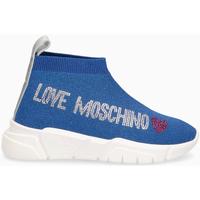 Scarpe Donna Sneakers alte Love Moschino Sneakers AZZURRO