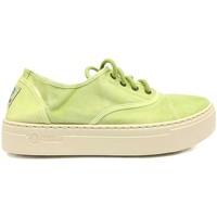 Scarpe Donna Sneakers Natural World Basket Platform Verte 641-6112E Verde