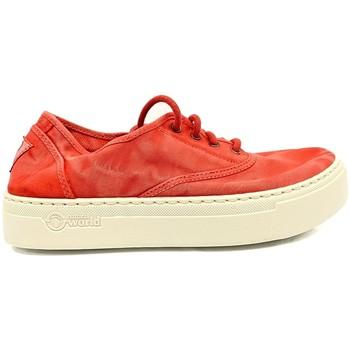 Scarpe Donna Sneakers basse Natural World Basket Platform Rouge 652-6112E Rosso