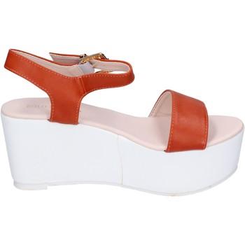 Scarpe Donna Sandali Solo Soprani sandali pelle sintetica arancione