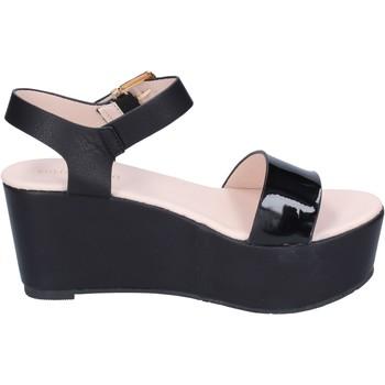 Scarpe Donna Sandali Solo Soprani sandali pelle sintetica vernice nero