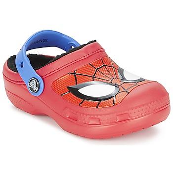 Scarpe Bambino Zoccoli Crocs SPIDERMAN LINED CLOG Red