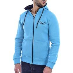 Abbigliamento Uomo Felpe Goldenim Paris Felpa zip 1118 blu