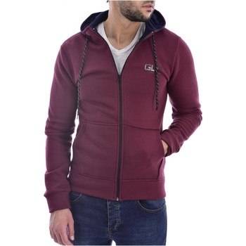 Abbigliamento Uomo Felpe Goldenim Paris Felpa zip 1118 rosso