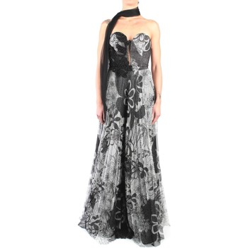 Abbigliamento Donna Abiti lunghi Impero ST8082 Abito Donna Nero/grigio Nero/grigio