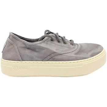Scarpe Donna Sneakers basse Natural World Basket Platform Grise 623-6112E Grigio