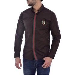 Abbigliamento Uomo Camicie maniche lunghe Goldenim Paris maniche lunghe 1242 marrone