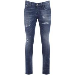 Abbigliamento Uomo Jeans slim Dondup Jeans Richie color blu con rotture Blu