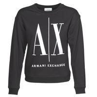 Abbigliamento Donna Felpe Armani Exchange 8NYM02 Nero