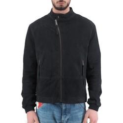 Abbigliamento Uomo Giubbotti Montereggi Giacca Di Pelle Madras Blu  MTRTT 8405 450 Blu