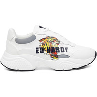 Scarpe Uomo Sneakers basse Ed Hardy - Insert runner-tiger-white/multi Bianco