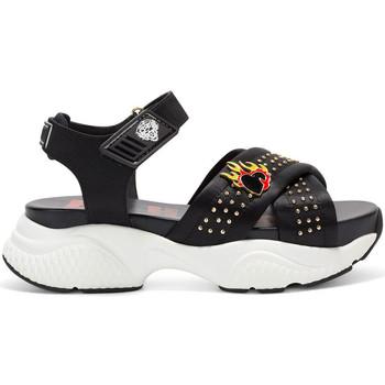 Scarpe Donna Sandali Ed Hardy - Flaming sandal black Nero