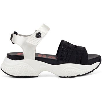 Scarpe Donna Sandali Ed Hardy - Overlap sandal black/white Bianco