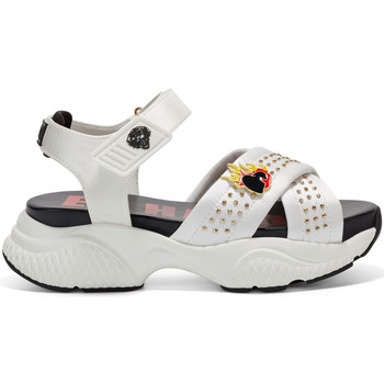 Scarpe Donna Sandali Ed Hardy - Flaming sandal white Bianco