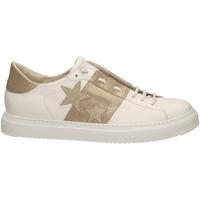 Scarpe Donna Sneakers basse Essex VITELLO STELLE E FASCIA bianco-oro